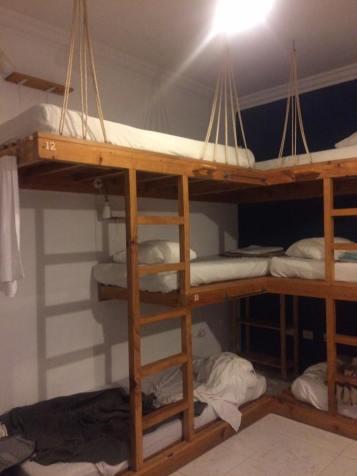 Triple bunkbeds!