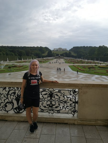 Looking out on the gardens from Schönbrunn Palace
