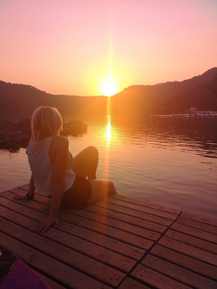Sunset at Seahorse Beach, Blue Lagoon, Turkey