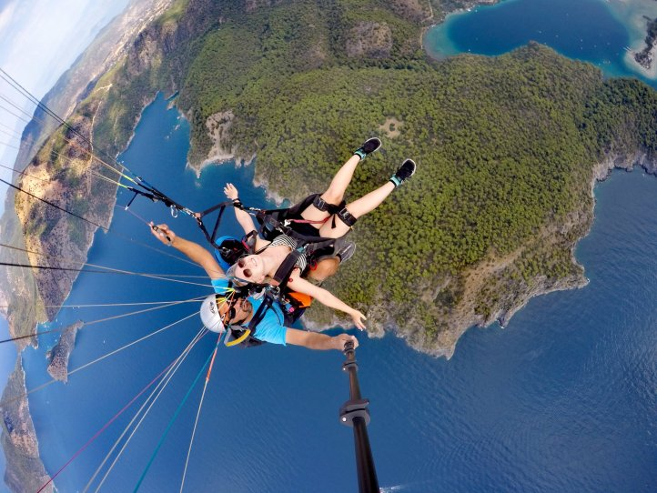 My first time paragliding!